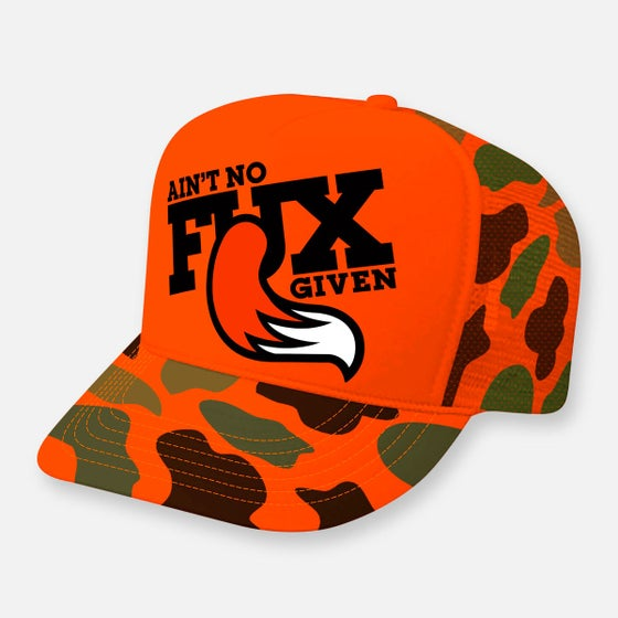 Image of Orange Stealth Mode Camo Hat