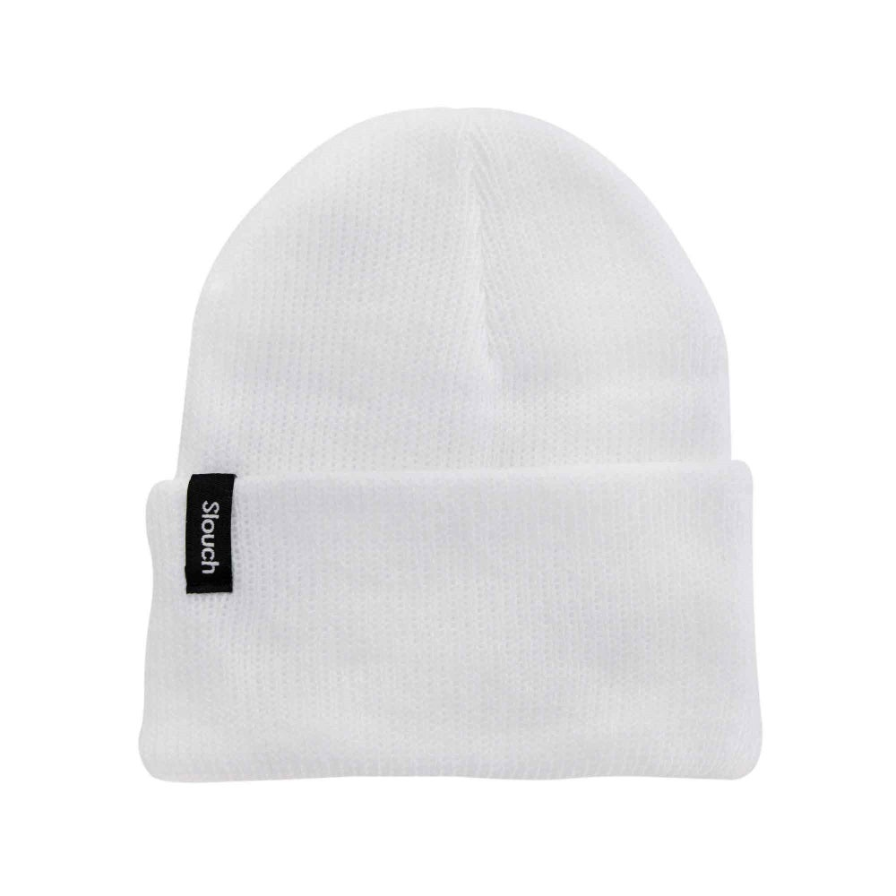 Image of White Knit Cuff Beanie
