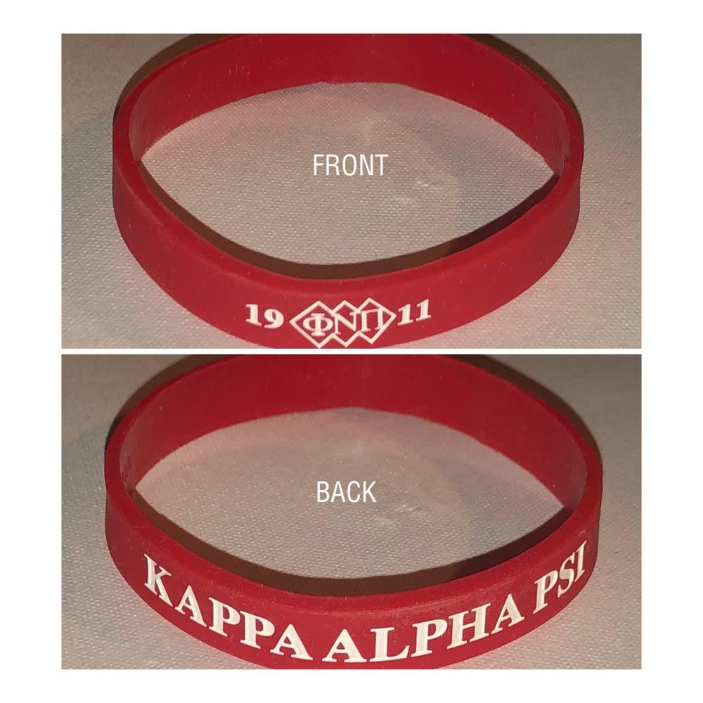 "Image of ""ΦNΠ"" Exclusive Three-Diamond Design Silicone Wristband"