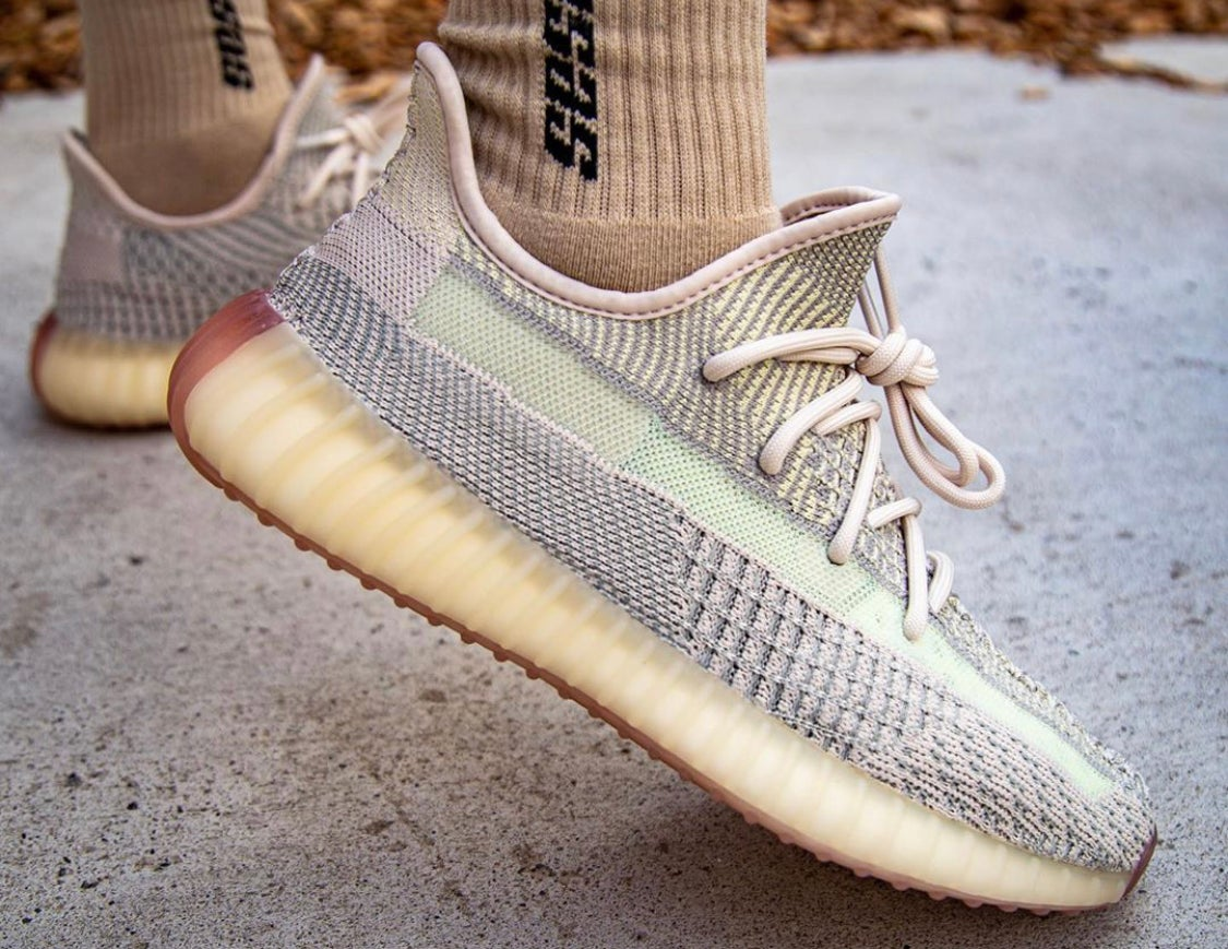 "Image of Yeezy 350 v2 ""Citrin"" Non Reflective"