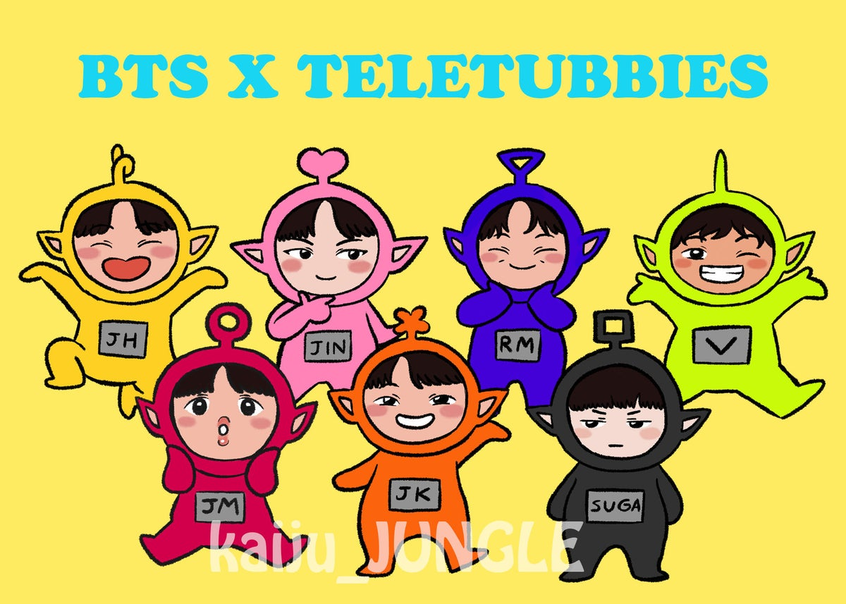 Image of bts x teletubbies stickers