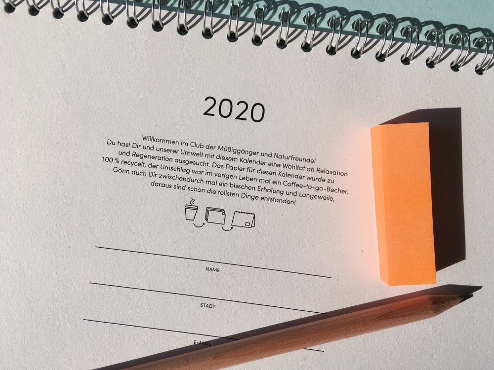 Image of Desktop Journal 2020 Aqua
