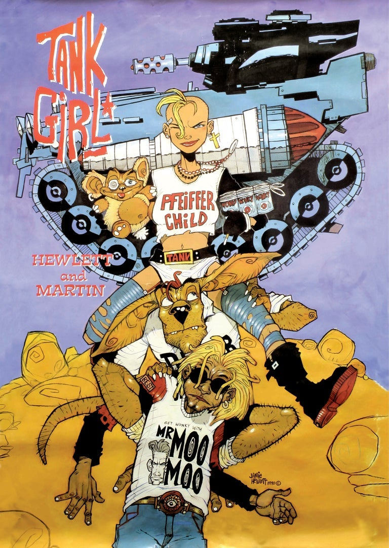 Image of TANK GIRL A2 POSTER PRINT TRIPLE PACK - Hand Signed (with bonus!)