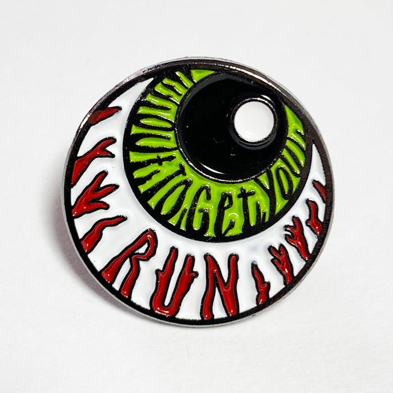 Image of Enamel Eyeball Badge