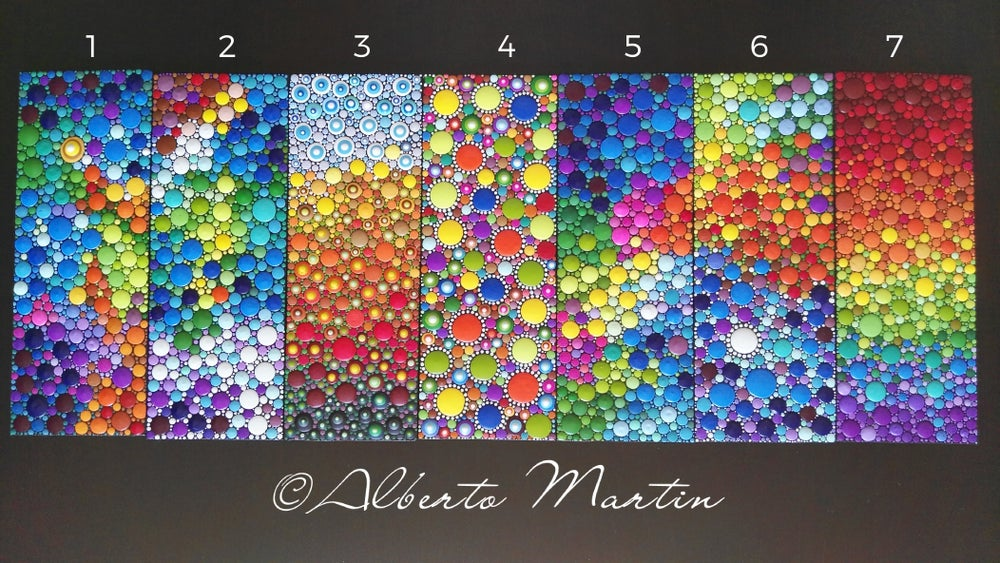 Image of Magnetic painted canvas dotart- Kitchen Decor DotArt. Frigde Magnets by Alberto Martin