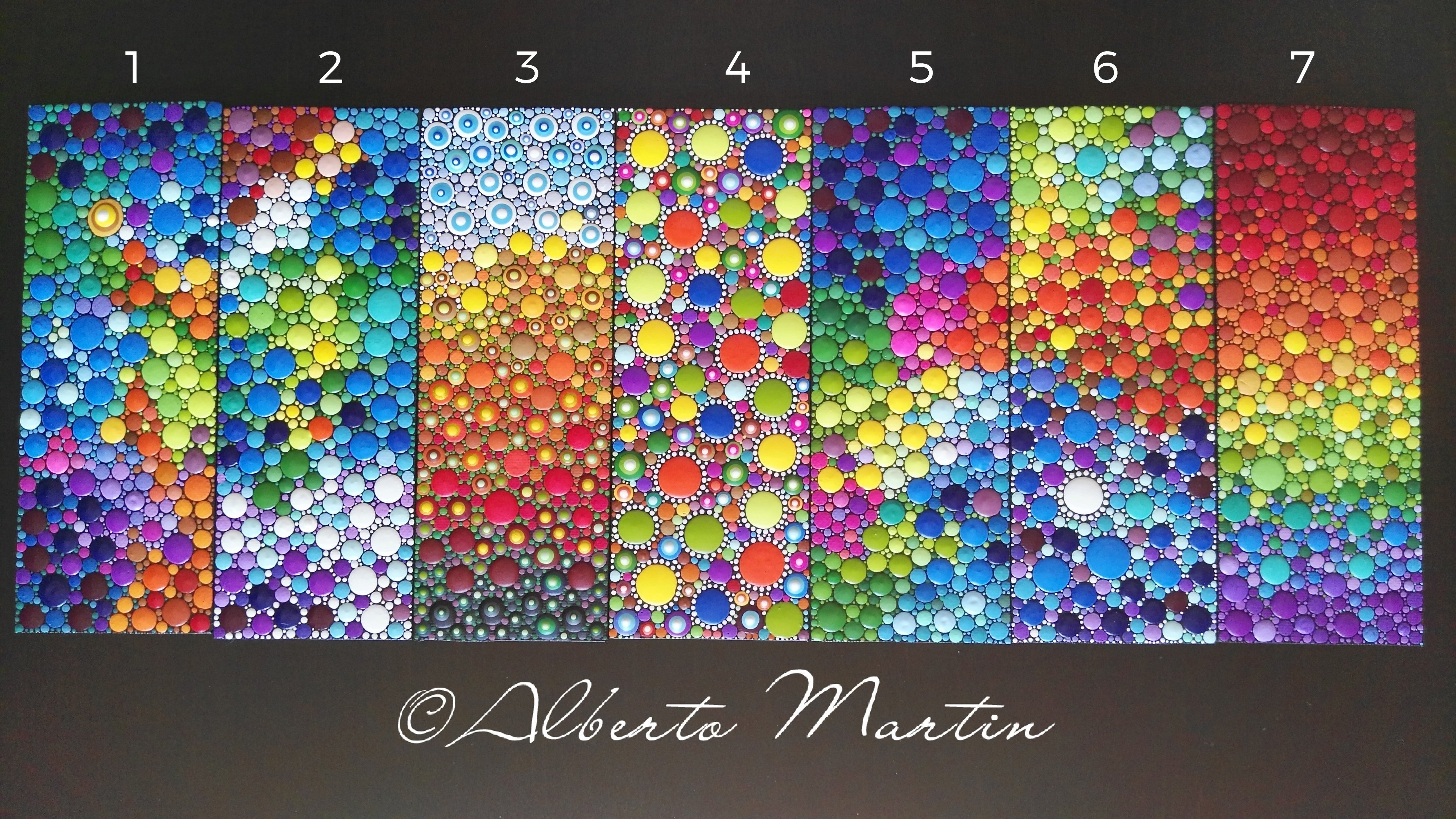 Magnetic Painted Canvas Dotart Kitchen Decor Dotart Frigde Magnets By Alberto Martin