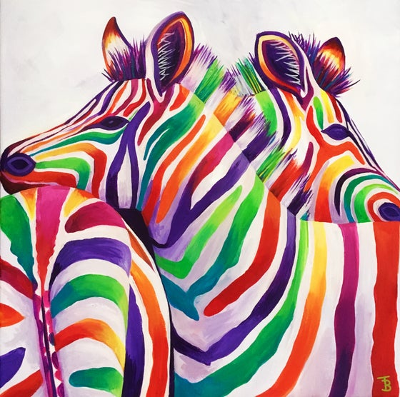 Image of Rainbow Zebra Hugs