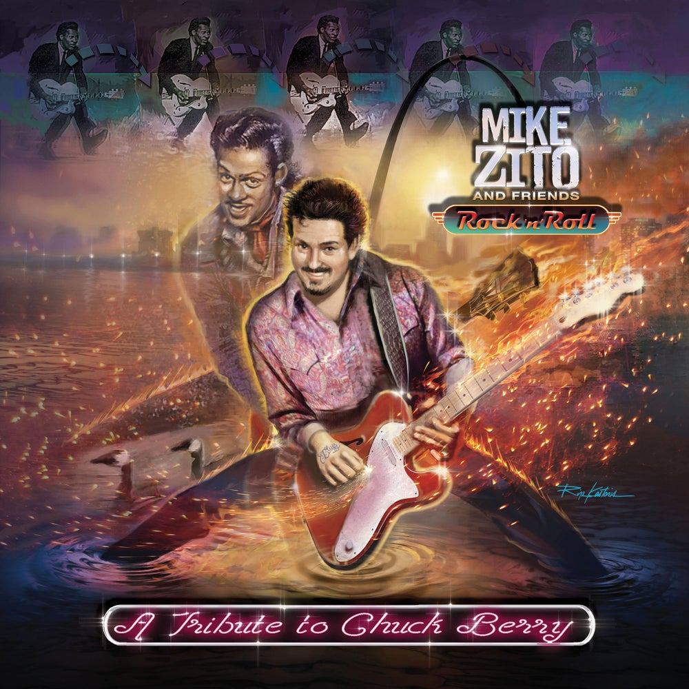 Image of MIKE ZITO AND FRIENDS - ROCK N ROLL: A TRIBUTE TO CHUCK BERRY -SIGNED VINYL PACKAGE