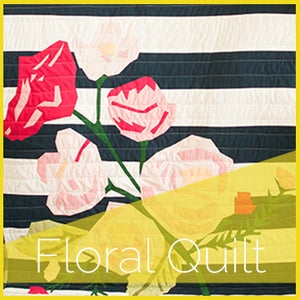 Image of Floral Quilt Applique