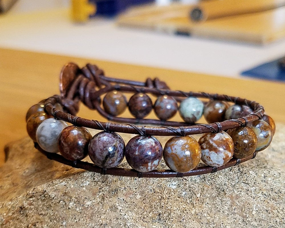 Image of African Opal Wrap Bracelet