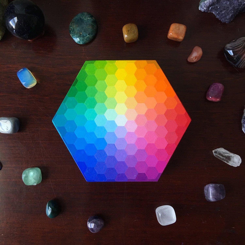Image of Custom hexagon box