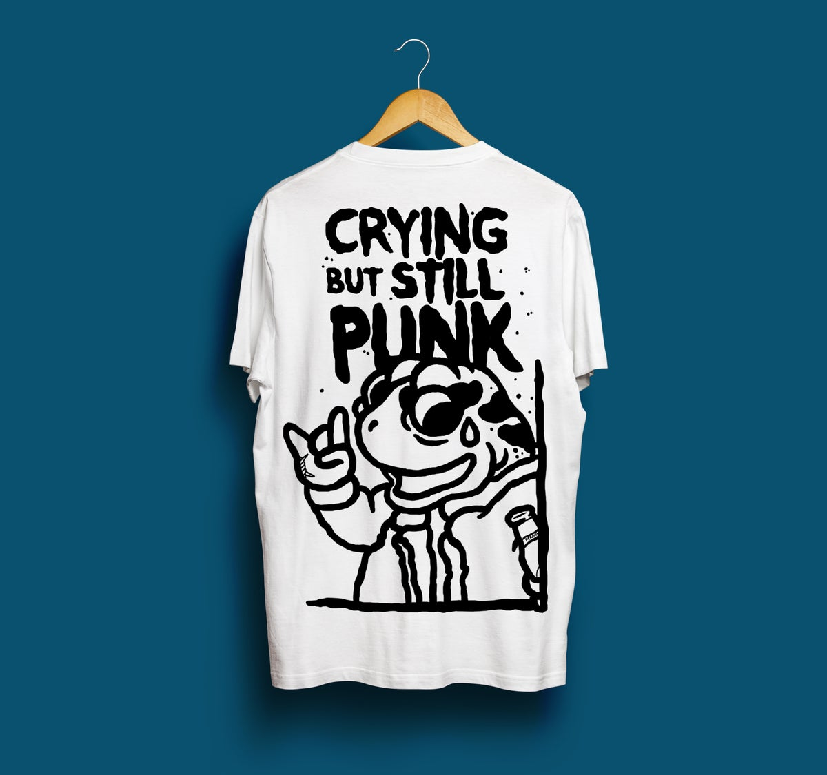 Image of Crying But Still Punk - White t-shirt