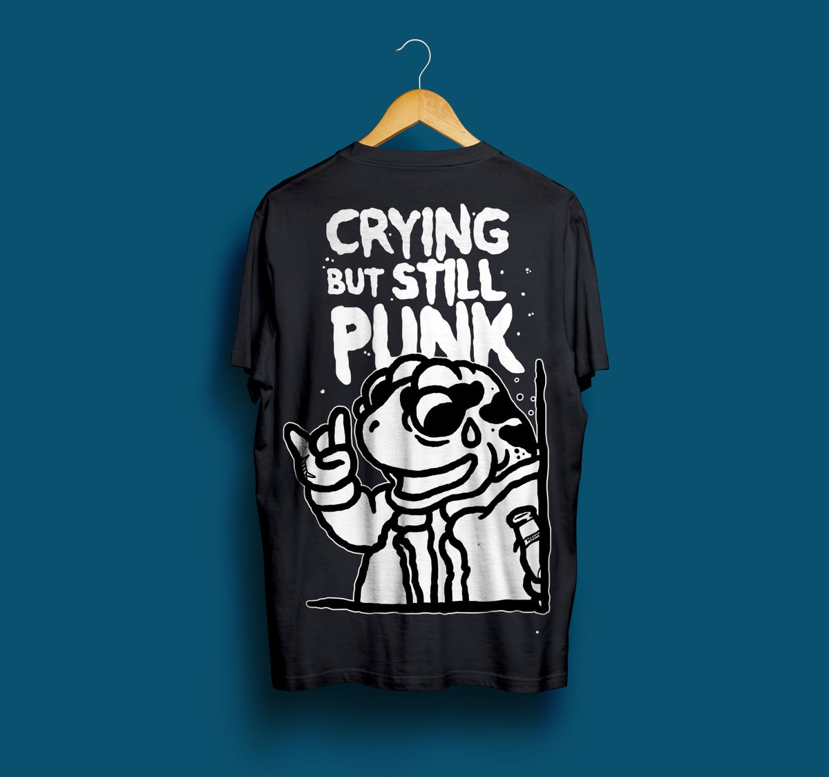 Image of Crying But Still Punk - Black t-shirt