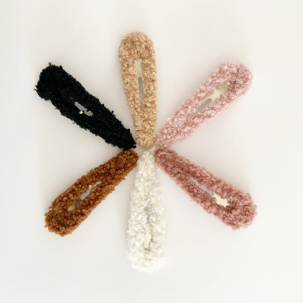 Image of Oversized Sherpa Hair Clips