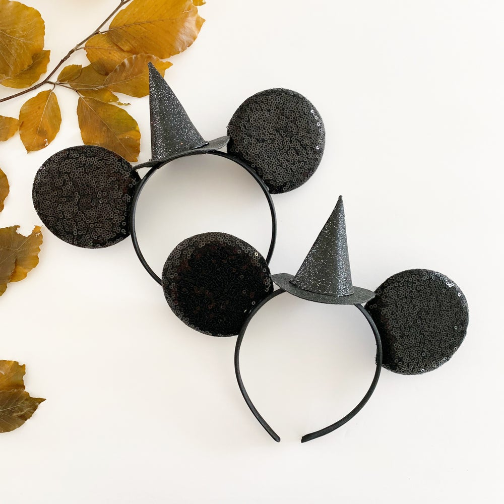 Image of Mouse Ears with Witch Hat