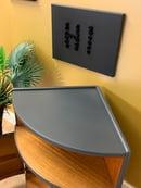 Image 3 of Dark grey & teak Nathan corner drinks cabinet