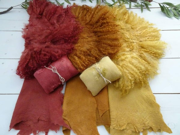 Image of Cranberry & Dusty Pumpkin Felted sets