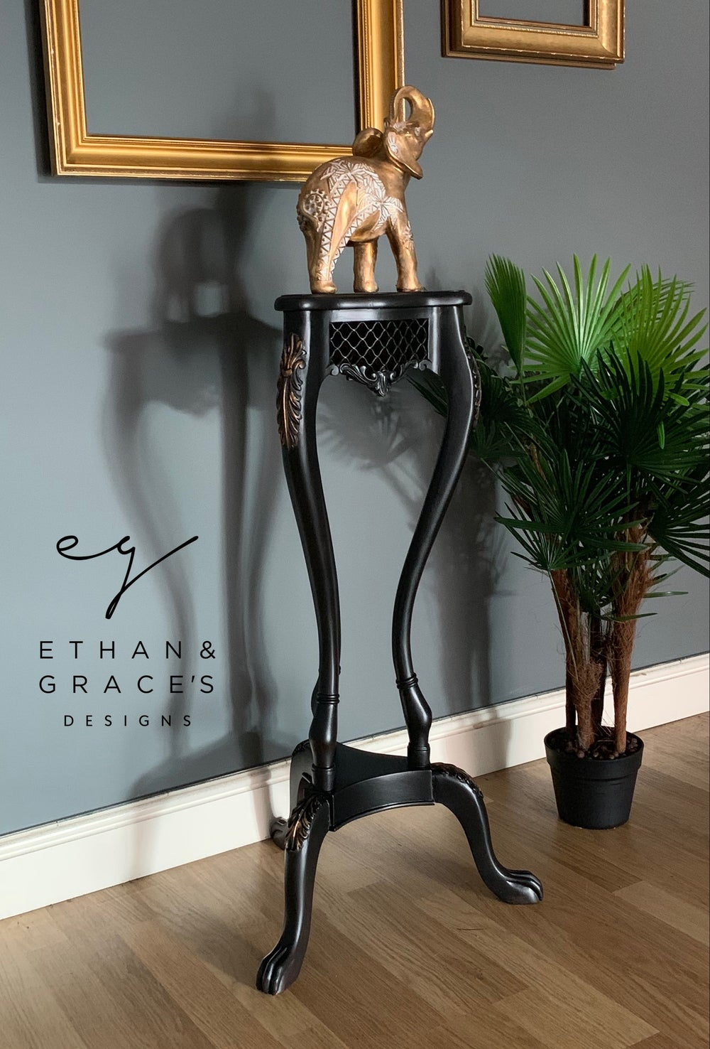 Image of Black & copper plant stand