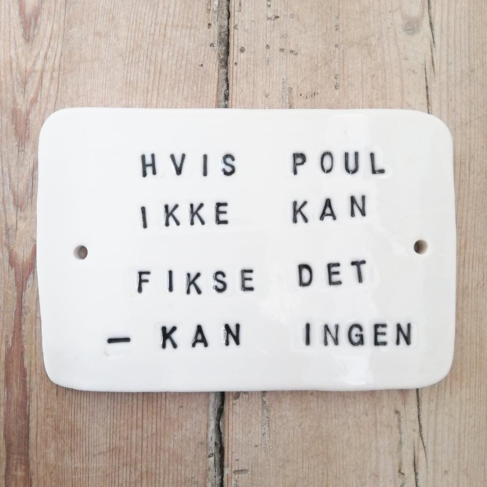 Image of Skilt, porcelæn.