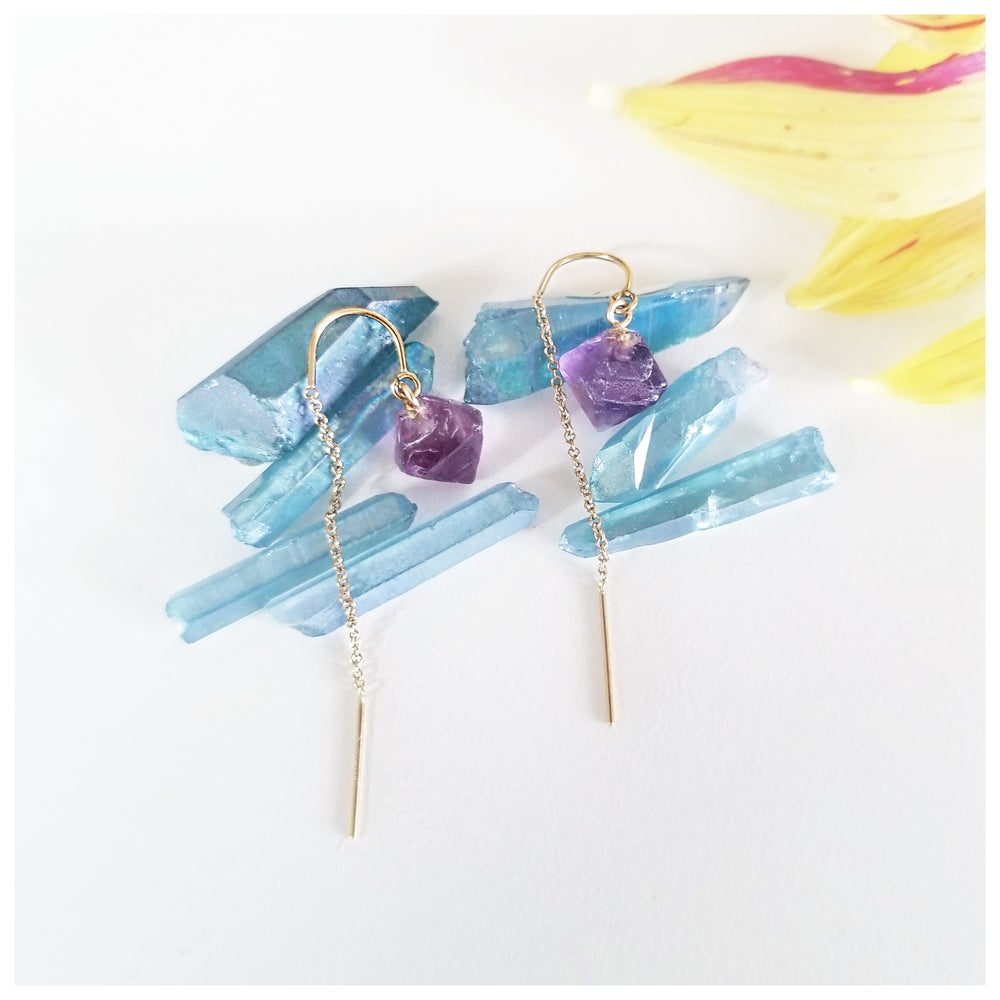 Image of Poise Earrings with Reverse Drop
