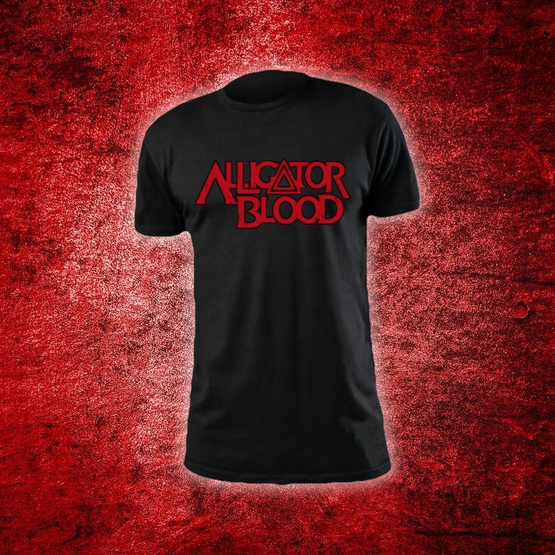 Image of Alligator Blood Red Logo Black T-Shirt