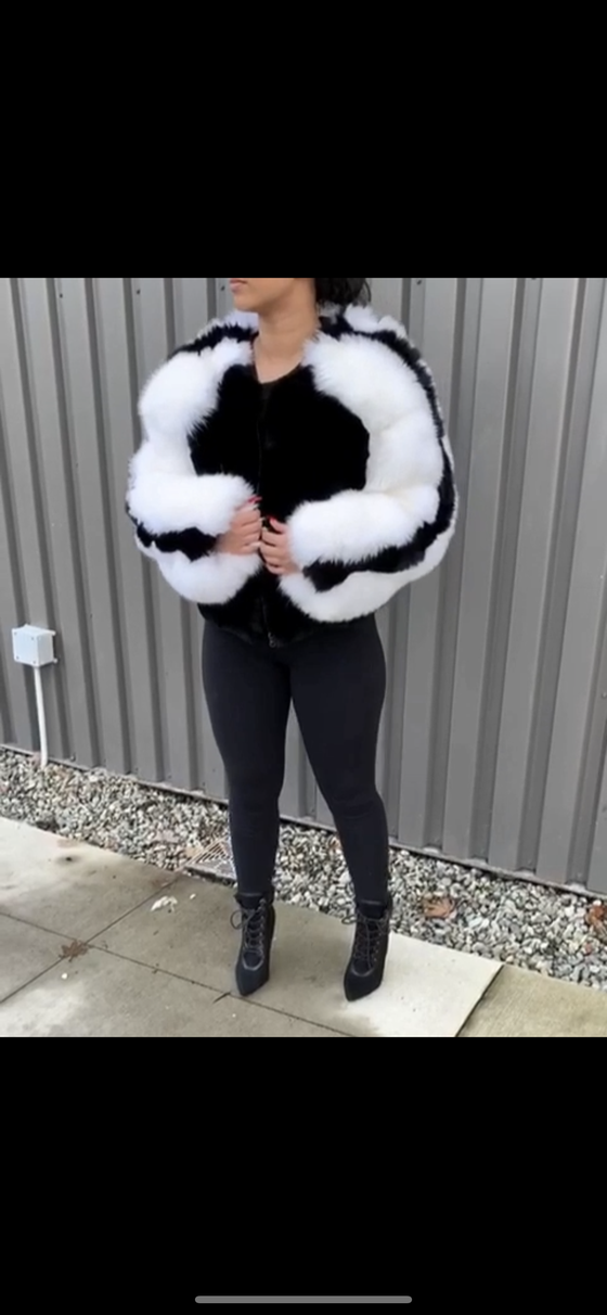 Image of Rabbit X Fox Fur Bomber