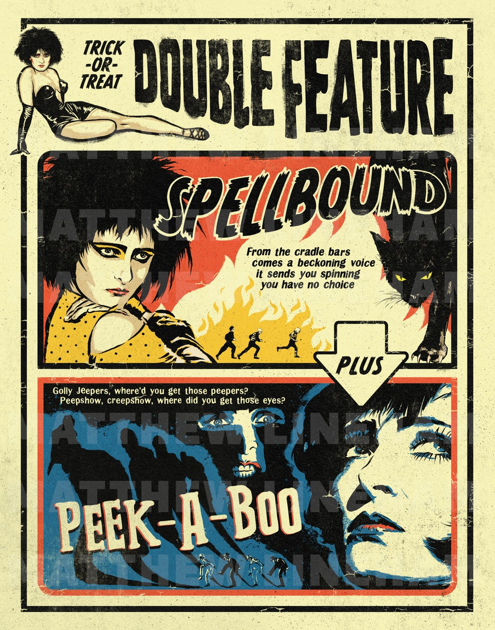 Spellbound Double Feature Art Print