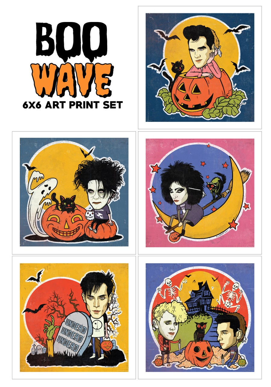 Image of BOOwave Art Print Set (5 Pack)