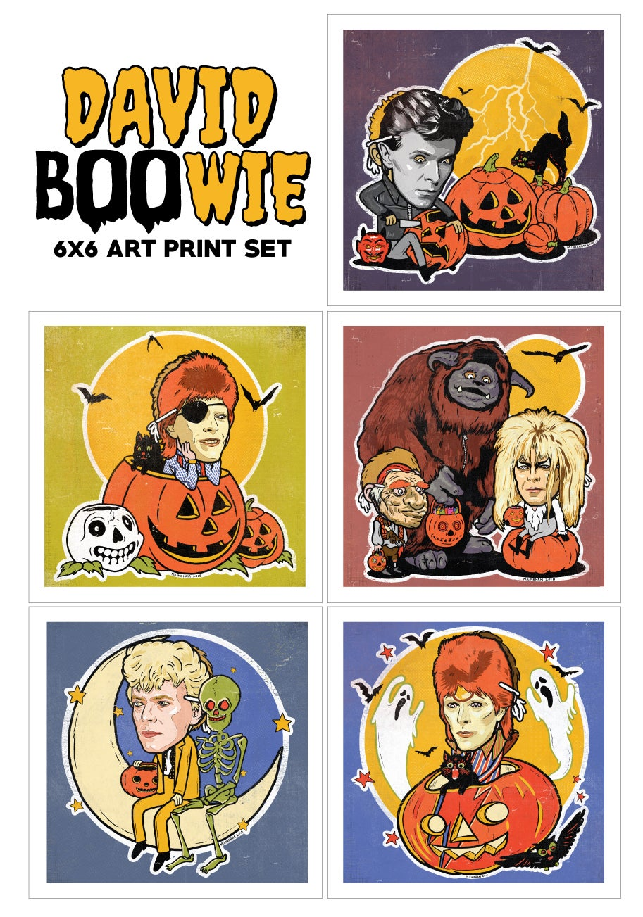 David BOOwie Art Print Set (5 Pack)