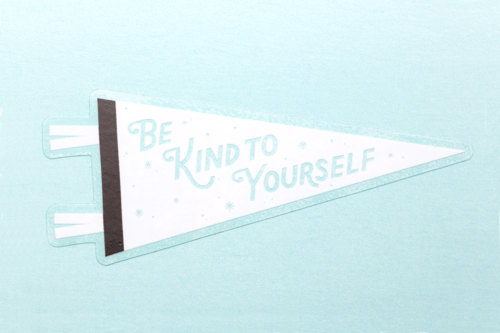 Image of Be Kind To Yourself Sticker (Clear)