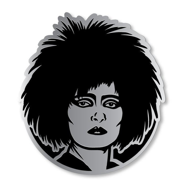 Image of Silver Siouxsie Enamel Pin