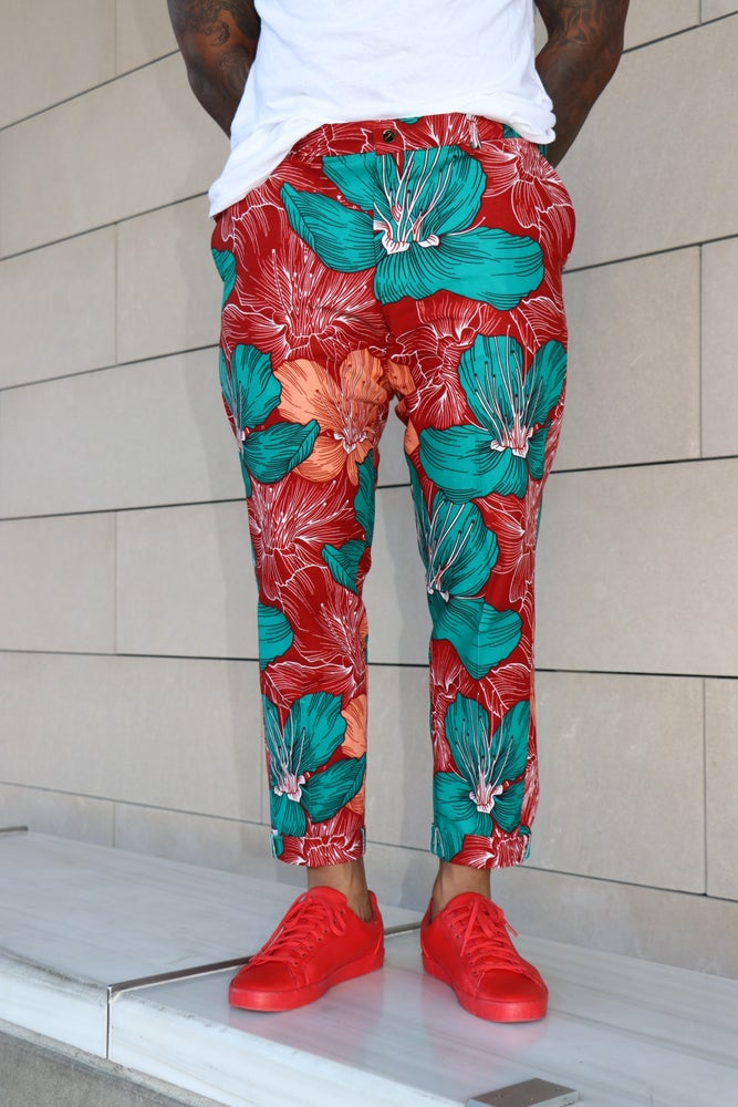 Image of The kendu pants- floral burst