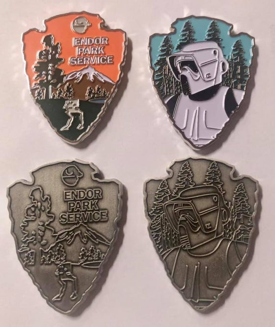 "Image of Endor Park Service Challenge Coin Empire Version 1.75"" - BIKER SCOUT"