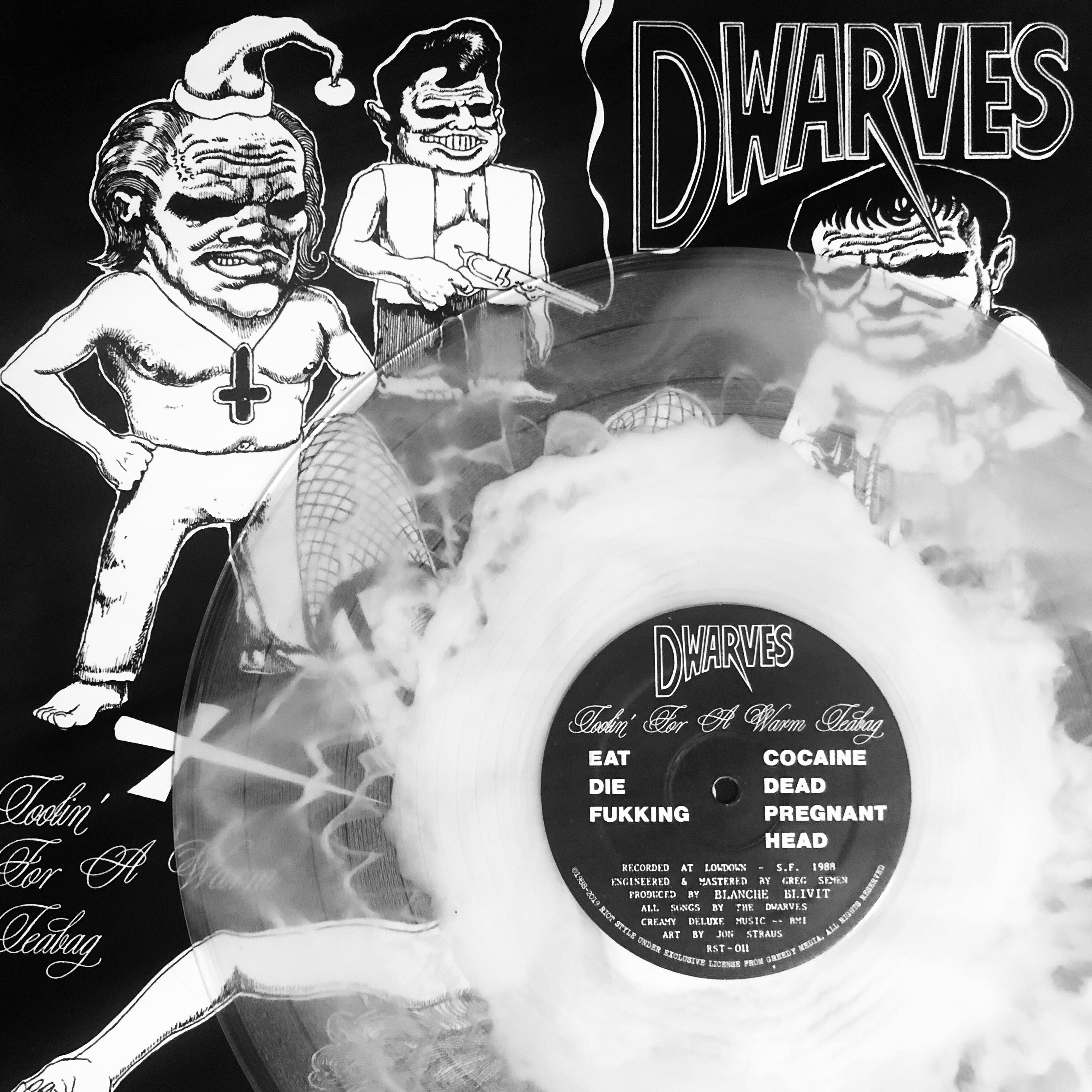 The Dwarves - Tooling For A Warm Teabag 12-Inch LP VINYL/CD/CASS/DIGITAL With Glow-In-The-Dark Cover Out Now On Riot Style!
