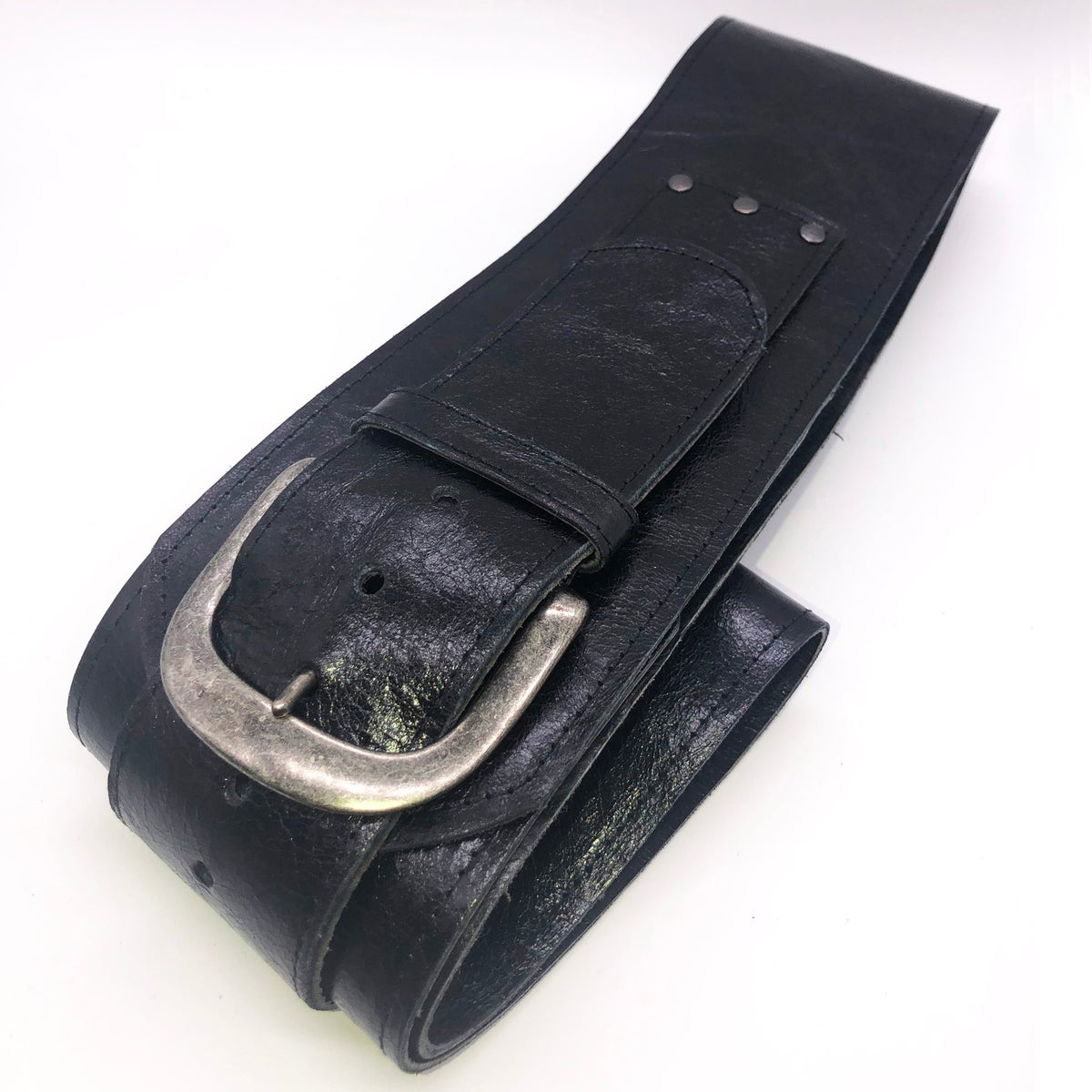 Image of YES MZ: CURVED WIDE LEATHER BELT