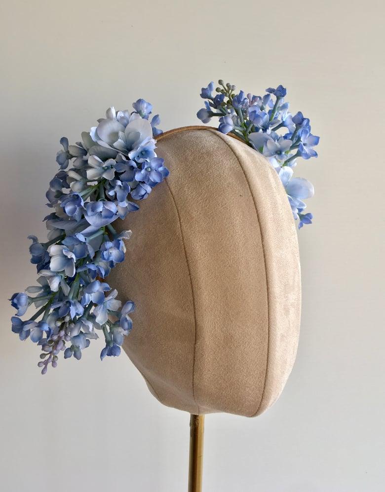 Image of Soft blue flower headpiece