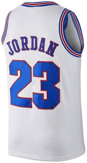"""Image of Jordan """"Space Jam"""" Jersey White Sz M"""