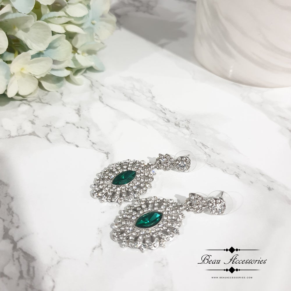 Image of Emerald Drop Earrings