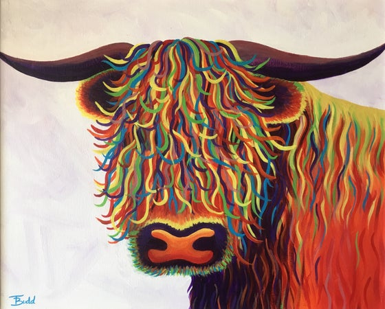 Image of 'Rainbow Highland Cow'