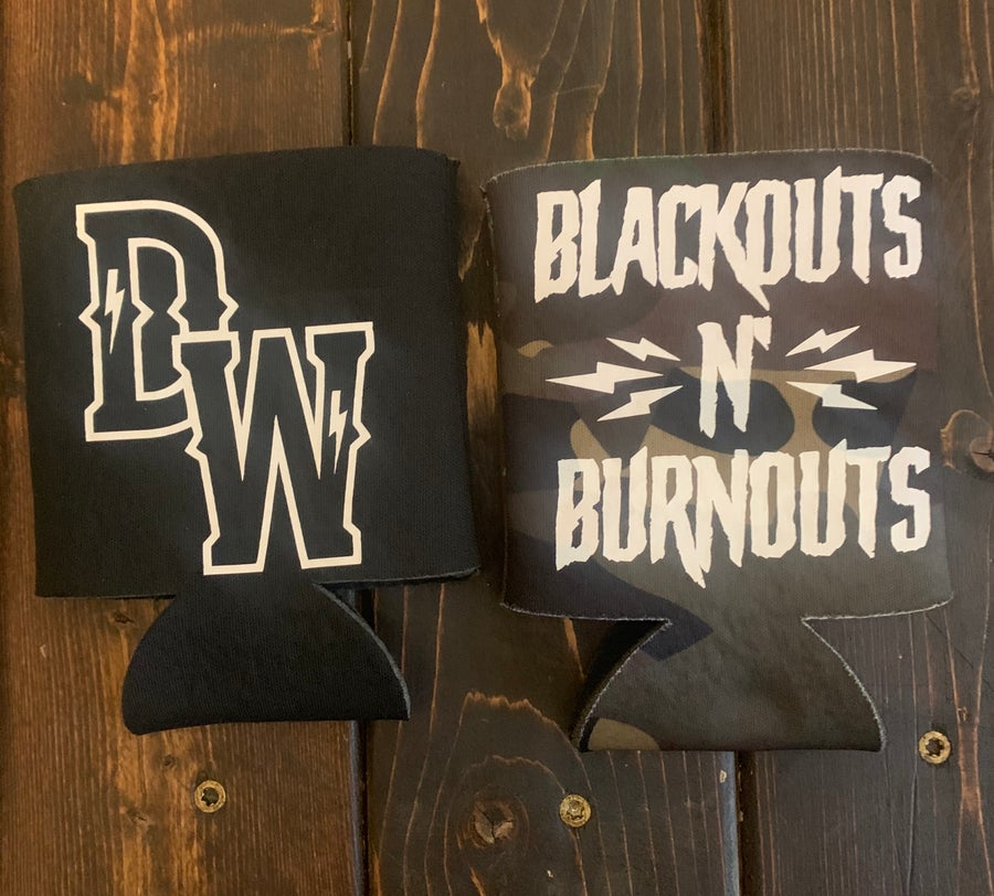 Image of Blackouts N Burnouts Coozie