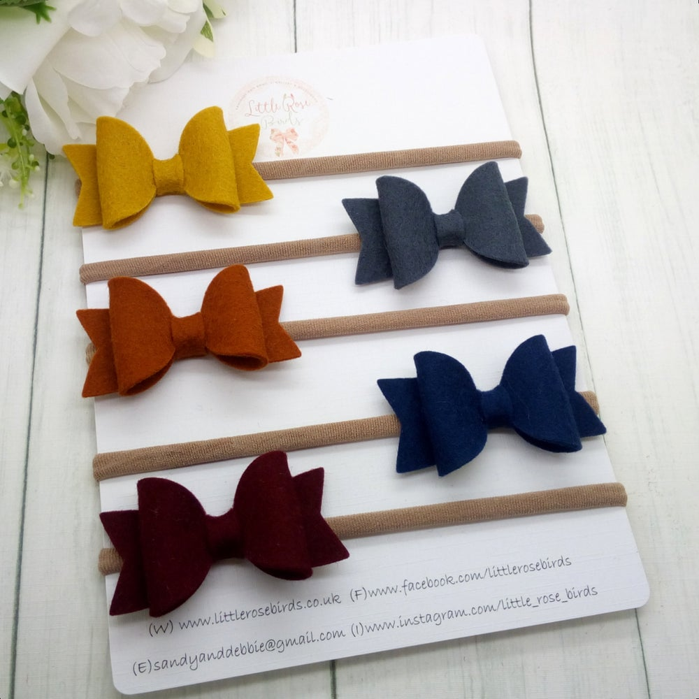 Image of SET OF 5 - Small Autumn Bow Set
