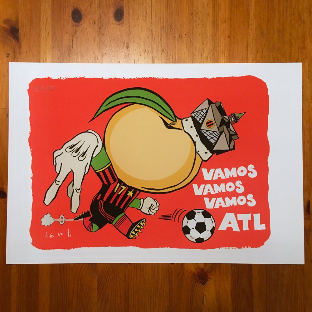 Image of VAMOS VAMOS VAMOS ATL- signed and numbered print on watercolor paper- edition of 100-FREE SHIPPING