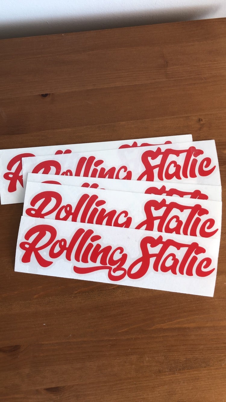 Image of RollingStatic Small Sticker v2