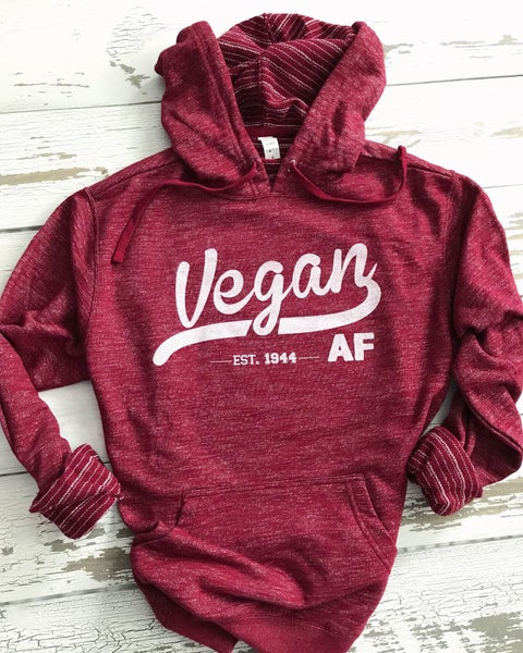 Image of Vegan AF french terry hoodie (pre-order)