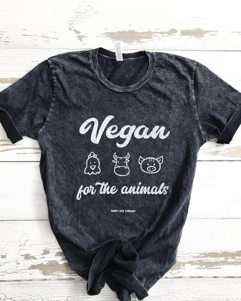 Image of Vegan for the animals unisex tee