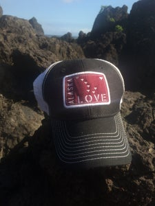 Image of Alaska Love Trucker Hat- Grey