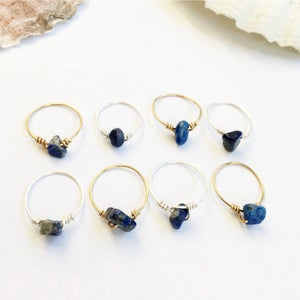 Image of Simple Lapis Lazuli Stone Ring