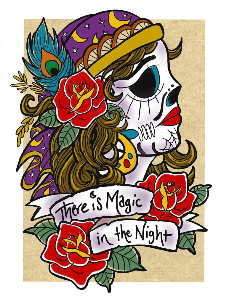 "Image of ""Magic in the Night"" Open Edition Fine Art Print by lin buckner"