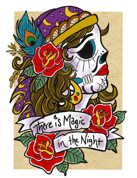 """Image of """"Magic in the Night"""" Open Edition Fine Art Print by lin buckner"""