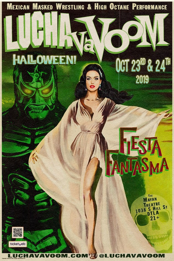 "Image of Halloween 19 ""Fiesta Fantasma"" Poster"